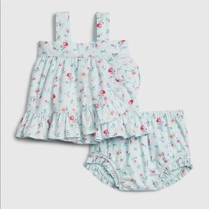 GAP 2 piece mint green floral matching set shorts